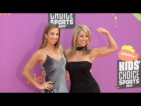 Katie Austin and Denise Austin 2017 Kids' Choice Sports Awards Orange Carpet