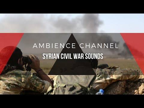 REAL RECORD FROM SYRIA | BATTLE AMBIENCE WITH RADIO CHATTER | CALM DESERT WIND | AMBIENCE CHANNEL
