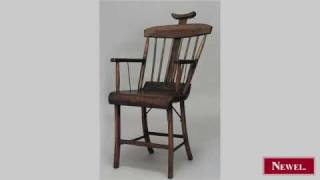 Antique American Country (19th Cent) Stained Pine Arm Chair