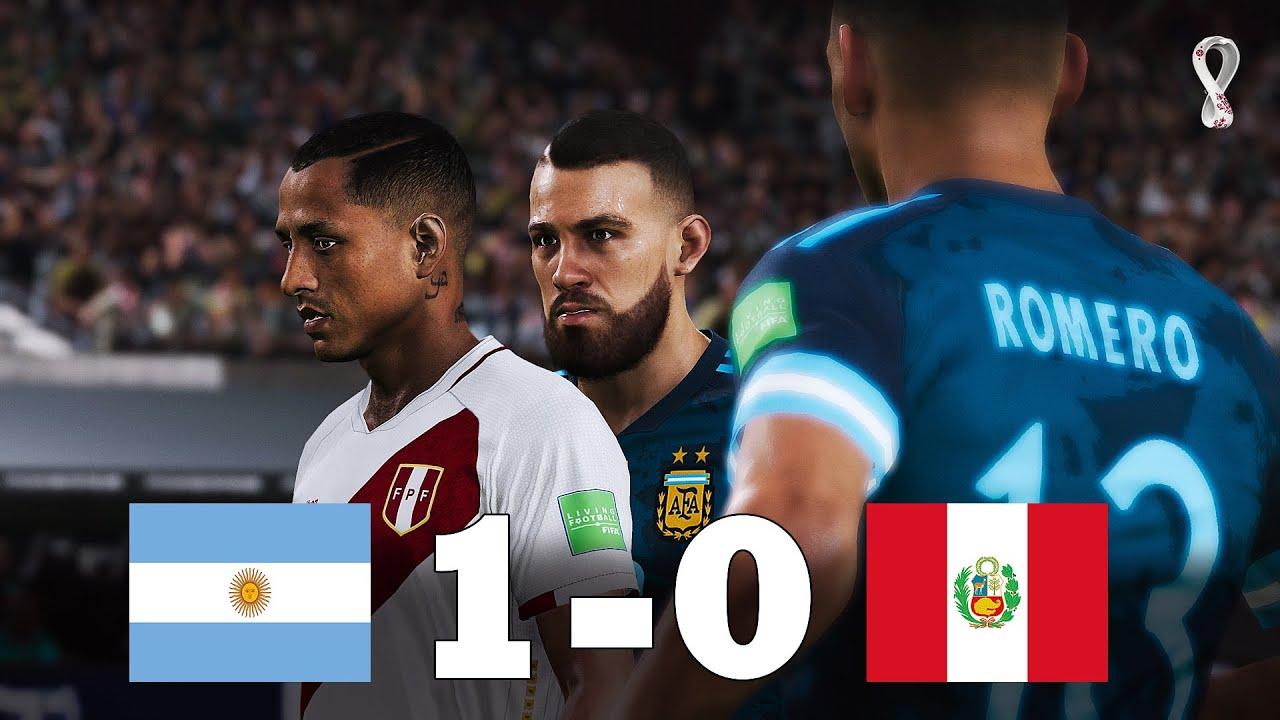 Recreación Argentina 1-0 Perú - Eliminatorias Qatar 2022