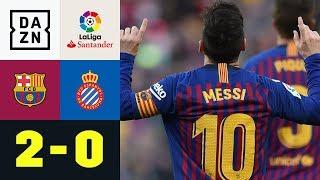 Mit Doppelpack: Lionel Messi entscheidet Derby: FC Barcelona - Espanyol 2:0 | La Liga | DAZN