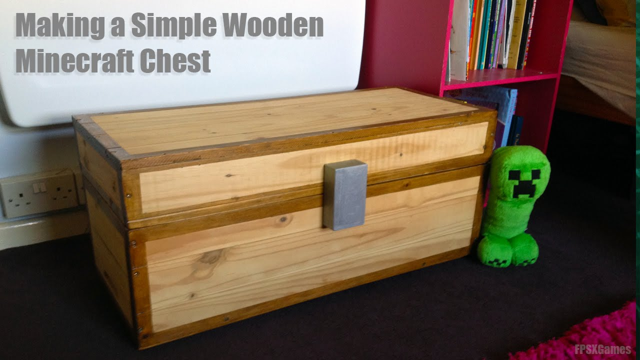 How to Make a Real Wooden Minecraft Chest - YouTube