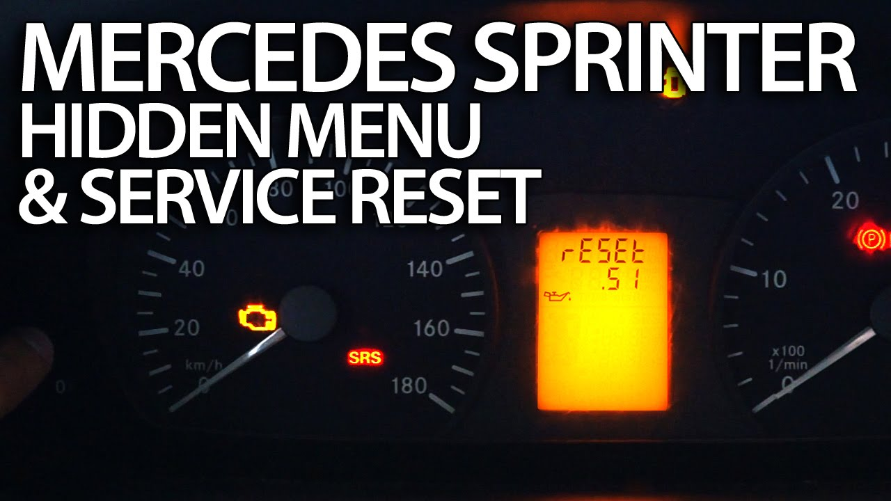 How To Reset Service Reminder In Mercedes Sprinter Hidden Menu