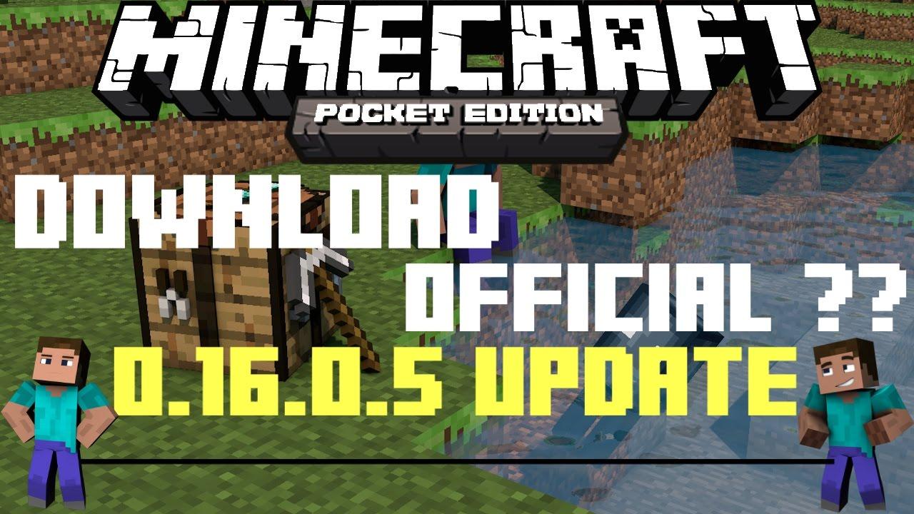 download minecraft pe 0.16 0.5 apk