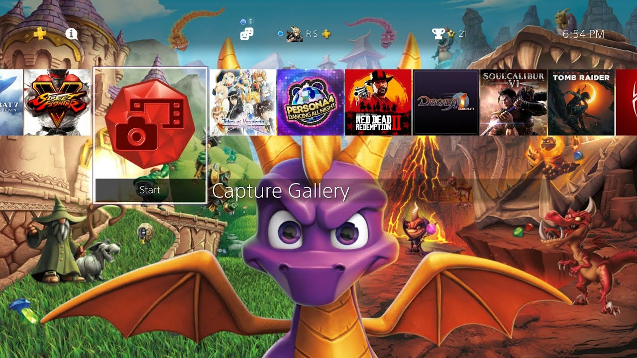 Spyro Reignited Trilogy - Fiery Return Dynamic Theme PS4  (Free theme)