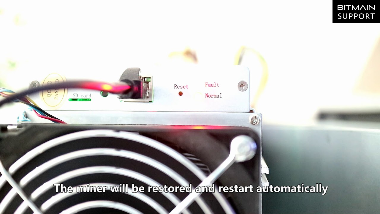 How to reset miner to factory settings – Bitmain Support