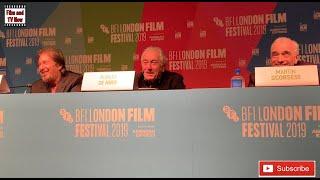 LFF 2019 - The Irishman Press Conference with Martin Scorsese, Al Pacino, Robert De Niro and more...