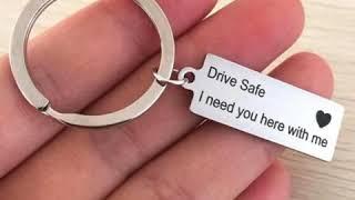 Custom Fashion Keychain DRIVE SAFE