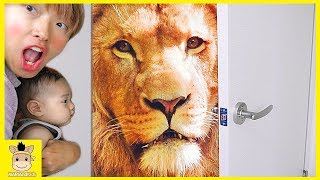 Magic door. Open the door and Lion and Toys came out for kids | MariAndKids Toys