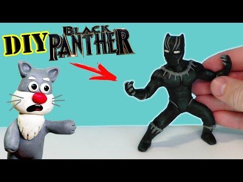 Как сделать пантеру из пластилина