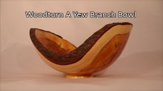 33#woodturning A Yew Branch Bowl