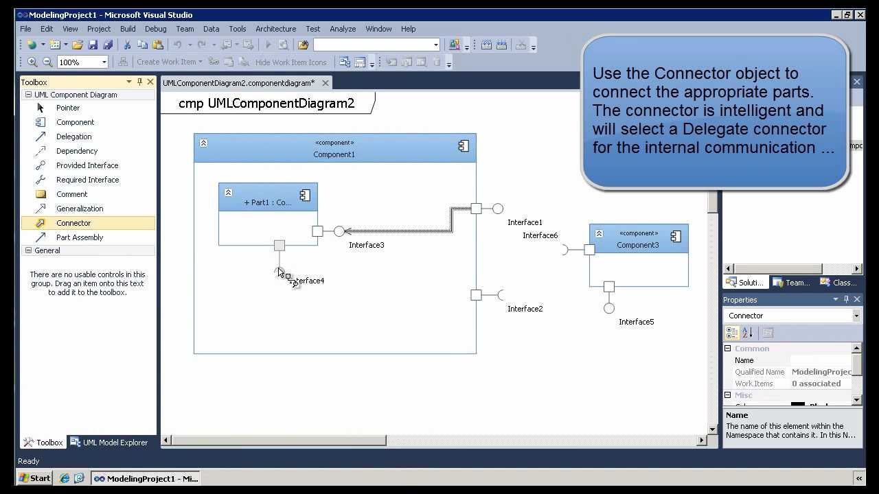 Model Web Services With Uml Component Diagrams In Visual Studio 2010 Software Engineering