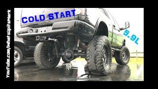 COLD START ❄️ 5.9 Cummins turbo diesel!