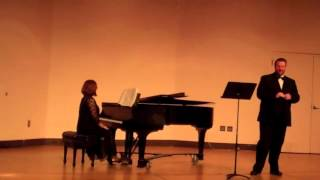 Recital C. Andrew Blosser, tenor, Suzanne Newcomb, piano, February 25, 2015, Otterbein University