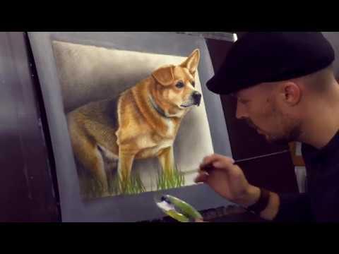Portrait gemalt nach Foto in 3D in l  Trick Art  YouTube
