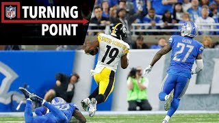 JuJu Smith-Schuster Steps Up in Record-Setting Steelers Win (Week 8) | NFL Turning Point