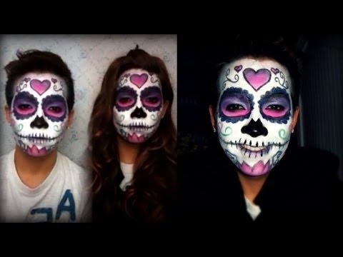 Halloween Makeup: Dia De Los Muertos (Day Of The Dead) Sugar Skull ...