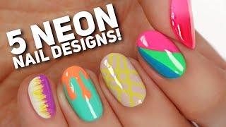 5 Ways To Wear NEON Nails! // Summer Nail Art