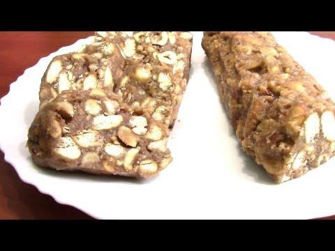 Сладкая колбаска из печенья и какао . Быстрый десерт без выпечки.