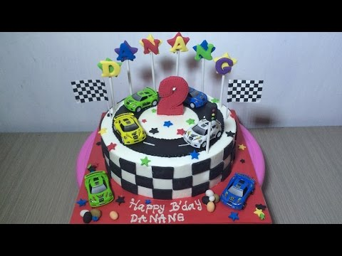 Cars Race Cake Decorating Theme