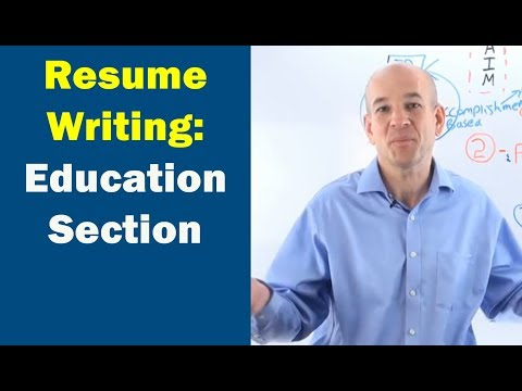 Resume Builder Step 5: How to write your EDUCATION Section