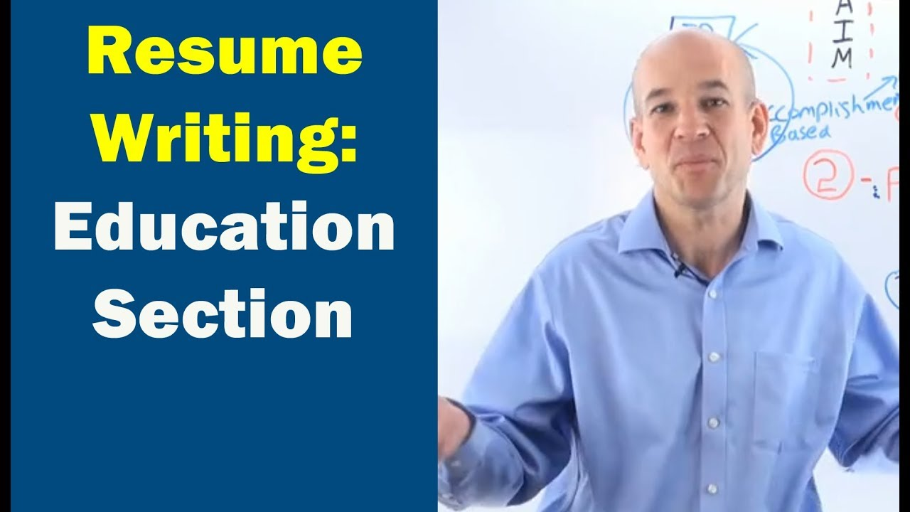 How To Write A Resume Education Section Youtube