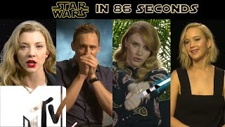 Star Wars Re-Enacted In 86 Seconds: Hollywood Strikes Back | MTV Movies