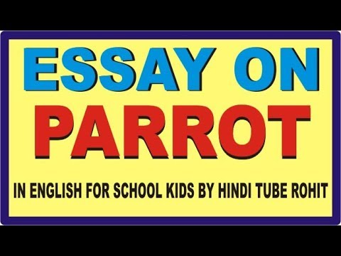 ESSAY ON PARROT IN ENGLISH FOR SCHOOL KIDS BY HINDI TUBE ROHIT