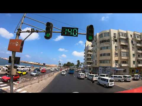 Bus Tour Overlooking The Mediterranean In Alexandria, Egypt In FHD & 4K