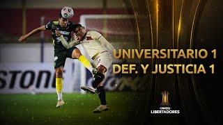 Universitario vs. Defensa y Justicia [1-1]   RESUMEN   Fecha 4   CONMEBOL Libertadores 2021