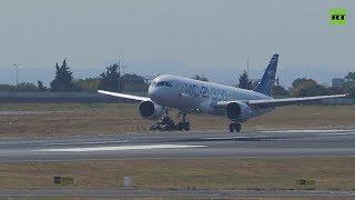 Первый международный полёт пассажирского МС-21-300 — видео