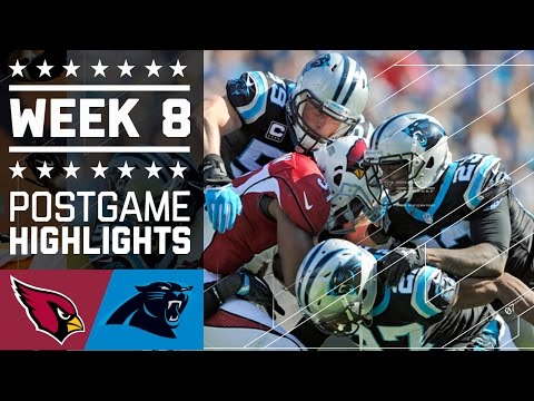 Cardinals vs. Panthers | NFL Week 8 Game Highlights