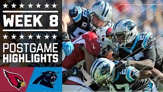 Cardinals vs. Panthers (Week 8) | Game Highlights | NFL