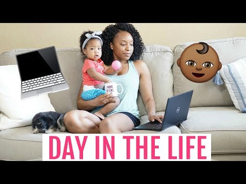 A DAY IN THE LIFE OF A WORK AT HOME MOM! | MOM VLOG