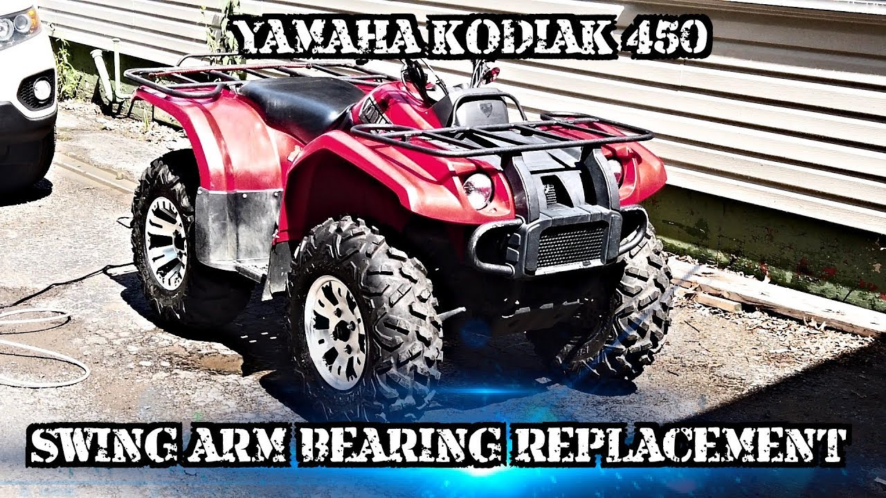 [DIAGRAM_4FR]  2004 Kodiak 450 rear bearings and swing arm boot replacement - YouTube | Honda Atv Pinion Bearing Removal 450 |  | YouTube