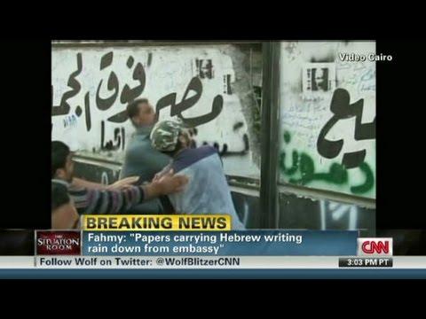 Egyptian Protesters Storm Israeli Embassy