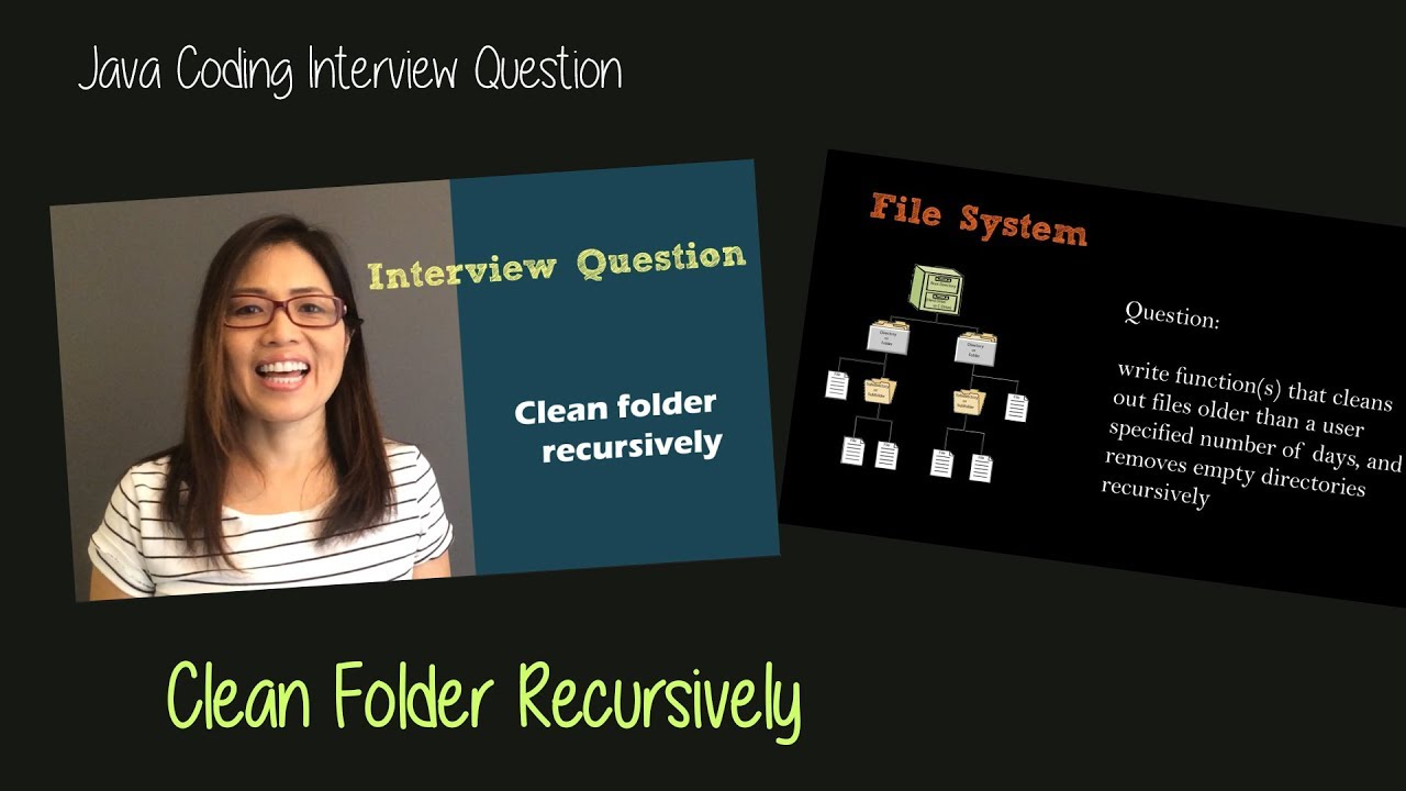 Java Coding Interview Question Clean Folder Using Recursion Youtube