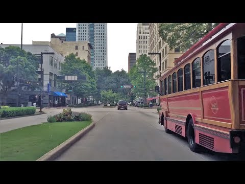 Driving Downtown - Birmingham Alabama USA