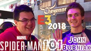 Spider-Man PS4: 101 - Experiencing Marvel's Spider-Man w/ John Bubniak (Peter Parker) at E3 2018!!!