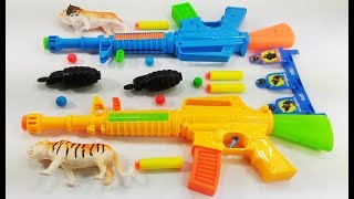 Box of Toys with Toy Guns Toys - Toy Guns Toys for Kids - Video for kids