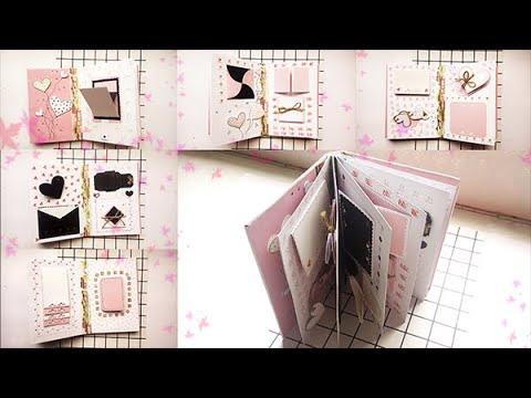 Hướng dẫn chi tiết SCRAPBOOK/ LOVE BOOK màu hồng | How to make Scrapbook | DIY | Handmade Dream(HN)