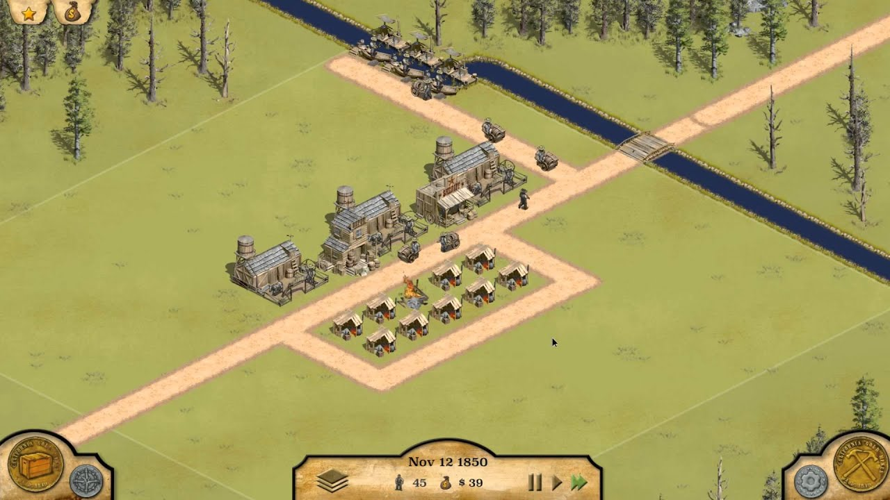 Let 39 s try 1849 western city building game youtube for Build a house online free