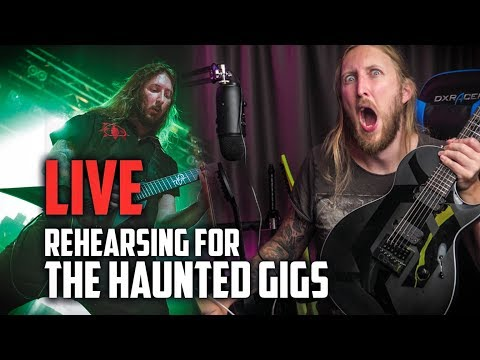 LIVE REHEARSING FOR THE HAUNTED GIGS