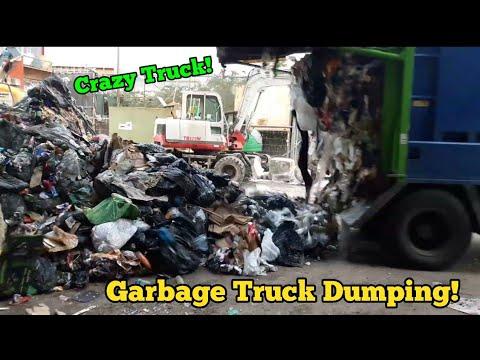 Garbage Truck Dumping Satisfying Waste!!!
