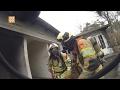 Burgemeester bezoekt brandweeroefening in Weeze (Duitsland) - 0297.nl