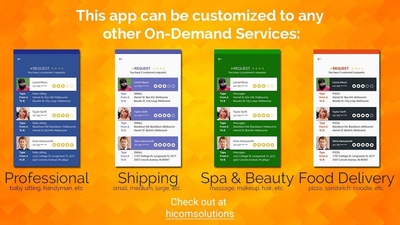 Uber clone, uber like taxi app template, script, source code