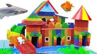 DIY - Build Creative Dog House Fish Pond Aquarium With Magnetic Balls (Satisfying) - Magnet Balls