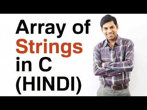 Download Youtube: Arrays of Strings in C (HINDI/URDU)