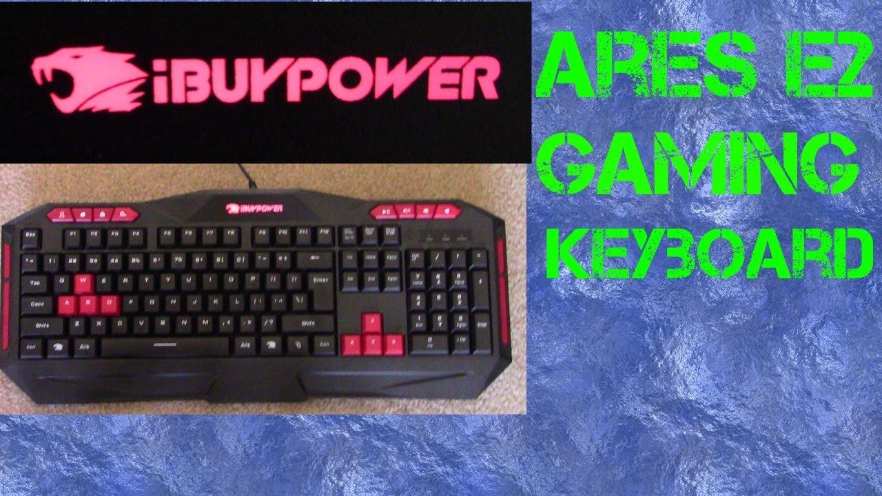 fc9e549b9bc Ibuypower Ares E1 gaming keyboard - YouTube
