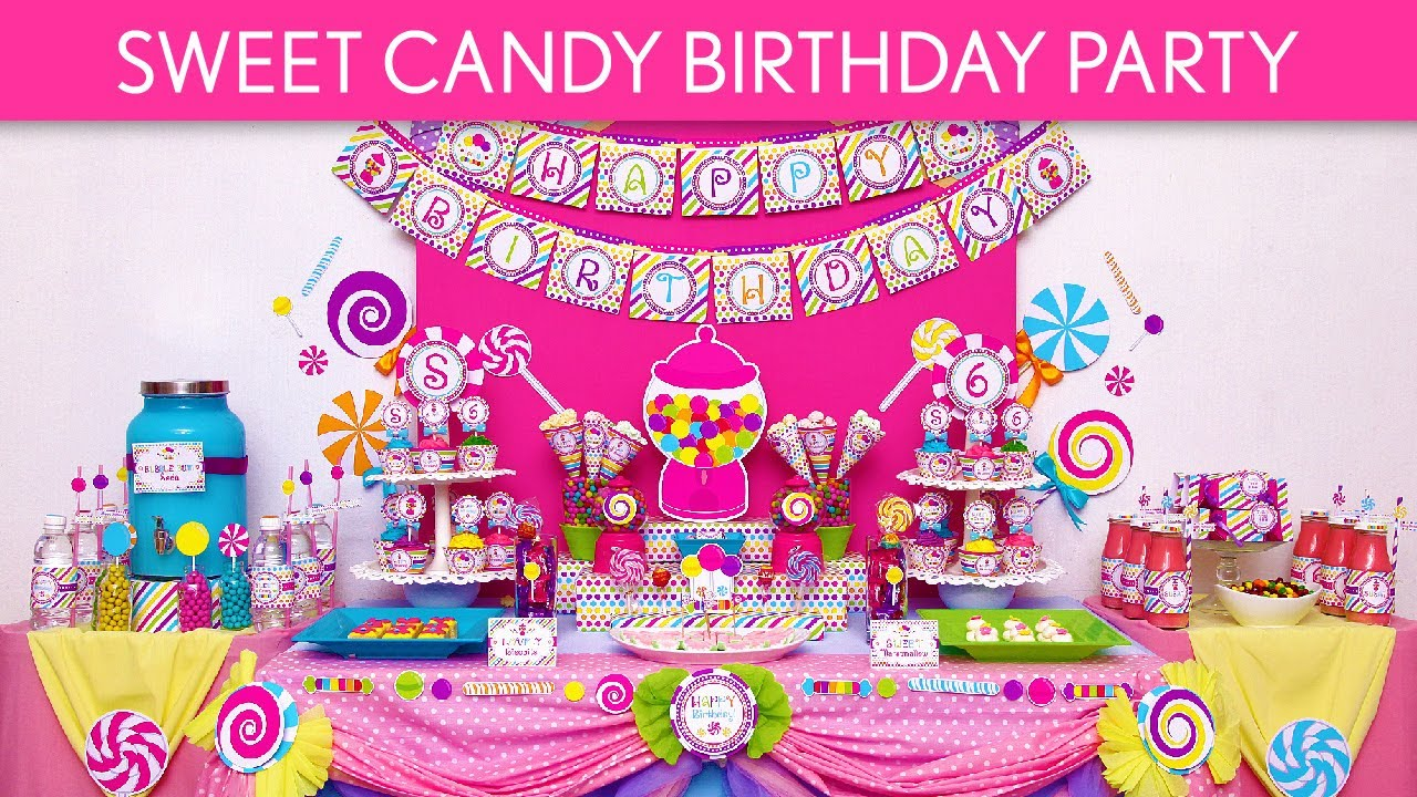 Superior Candy Themed Decoration Ideas Part - 12: Sweet Candy Birthday Party Ideas // Sweet Candy - B88 - YouTube